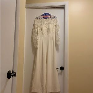 Ivory bridal jumpsuit